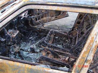 Inside of my burnt car