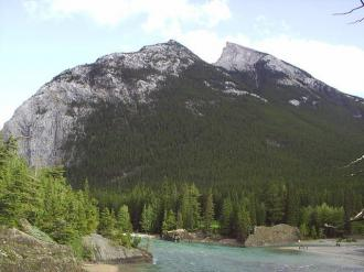 Cascade Mountain near Banff township