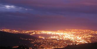 Dunedin City at night