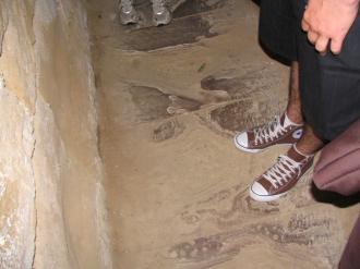Floor of the corridor underneat the prison in Hobart