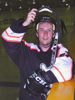 Me (Ryan Hellyer) wearing kitted out in my Calgary Phantoms gear