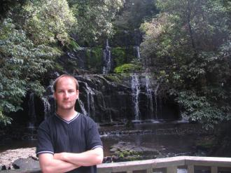 Me (Ryan Hellyer) in front of the Purakenui falls