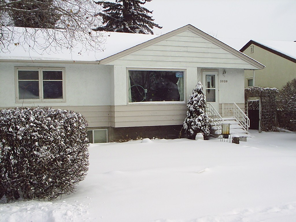 My house in Calgary at Christmas
