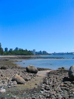 The shore on the side of Stanley Park in Vancouver