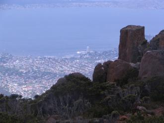 View of Hobart from above
