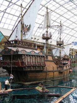 The pirate ship in the West Edmonton Mall.