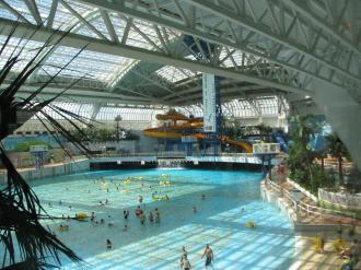 The wave pool in the West Edmonton Mall.