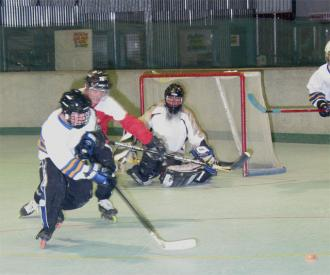 Ryan Hellyer (me) chasing the puck