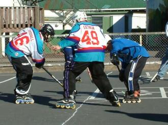 Ryan Hellyer: George St school inline hockey