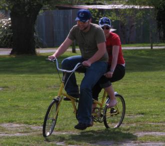 Chris and Jane on bike