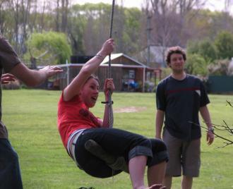 Jane Soper on swing #1