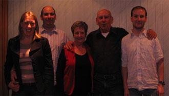 The family: Marthah, Scott, Joan, Ken and Ryan Hellyer