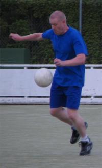 Matt Rooney levitating the ball