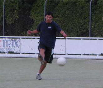 Mark Hareb playing soccer #1
