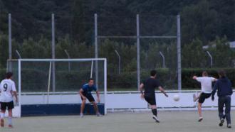 Nigel Alefosio ready in goal