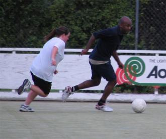 Worku Gobeze playing soccer #2