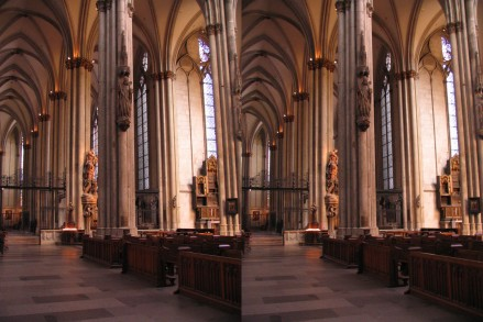 3D image of the inside of the Cologne Cathedral