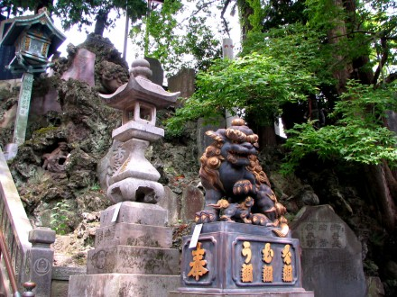 Statues at the Shingon Buddhist temple in Narita, Japan.