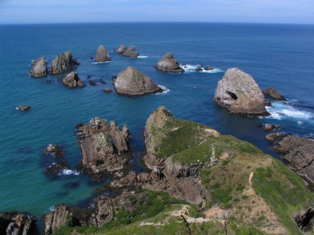 The rockie outcrop as seen from the Nugget Point lighthouse