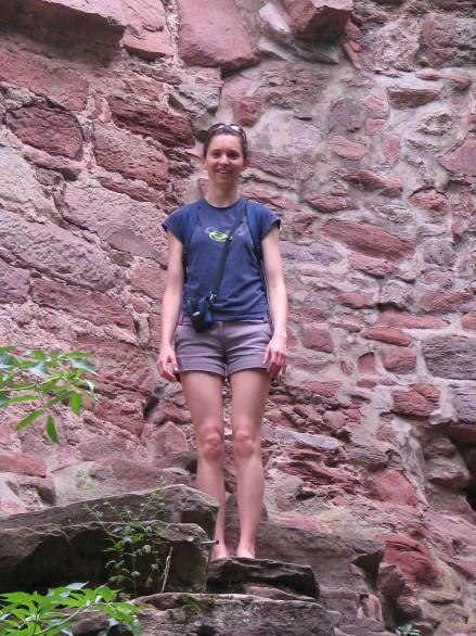 Vicki Argyle outside the Heidelberg castle's walls