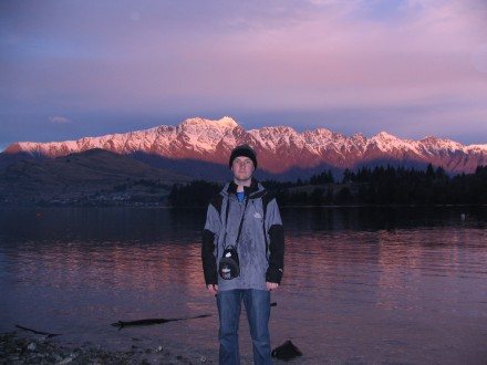 Me in Queenstown. Remarkables in the background.