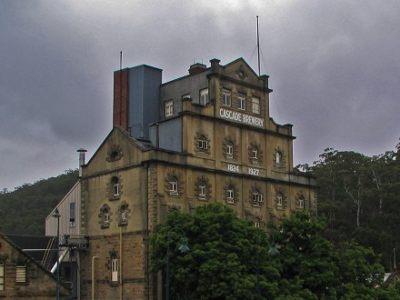 The Cascade brewery is nestled in the hills above Hobart and has a lovely little garden area to try the local brew in. Image photoshopped to make it look a little more evil!