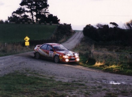 Joe MacAndrew and his ex-works Group A Subaru Impreze WRX