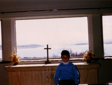Stupid church my mum forced me to have my photo taken at by Lake Tekapo