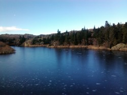 View of the middle basin. We didn't skate out into the middle here as it was thinning out too much unfortunately.