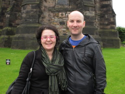Magdalini and Ryan Hellyer at Edinburgh Castle