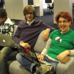 Konstantin, Isaac and Tammie at the developers day