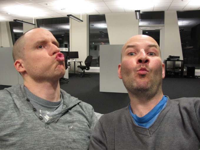 Noel and I doing the duckface