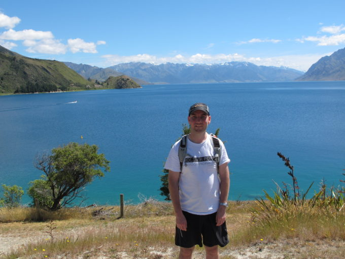 Ryan Hellyer by Lake Hawea