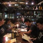 Jane, ??? Kailey, Konstantin, Tom, Scribu, Marko at post-event dinner