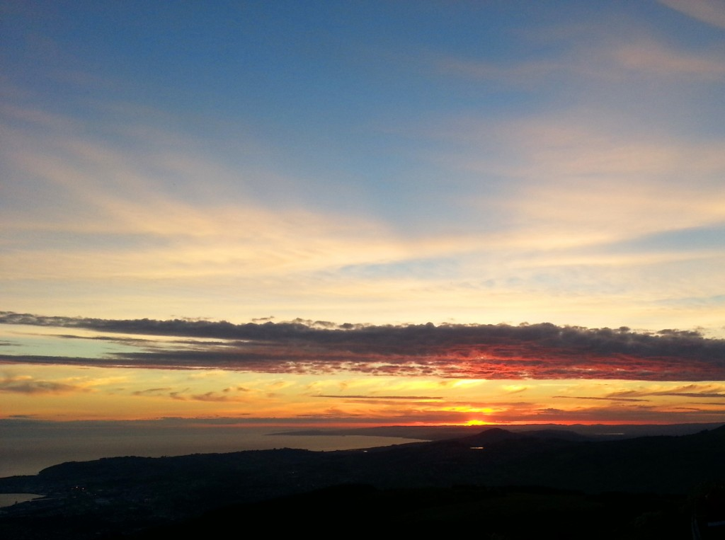 View over Dunedin from Mt Cargill