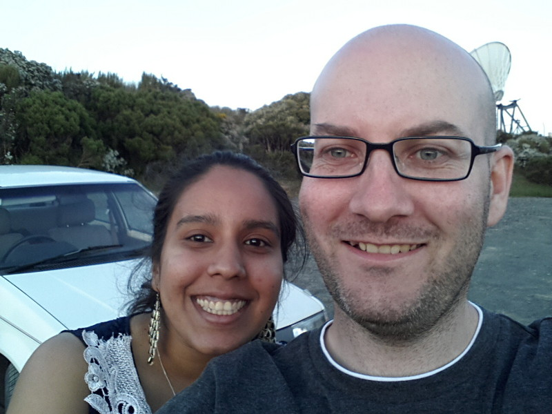 Sushi and I on Mt Cargill