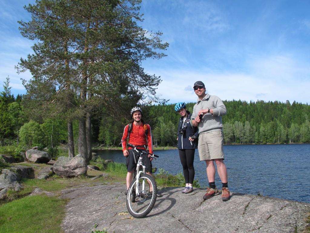 Bjørnsjøen with Karl, Nora and Andreas