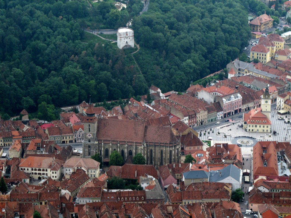 View overlooking Brașov from the top of Tâmpa