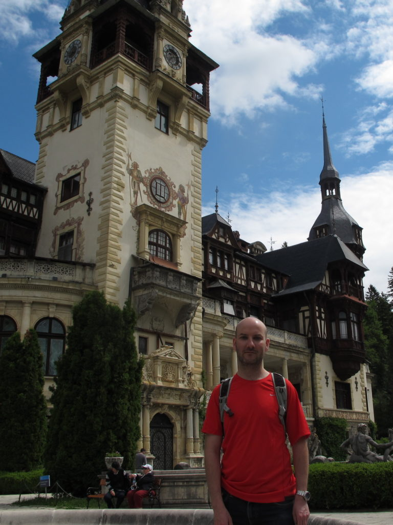 Me (Ryan Hellyer) at Peles castle