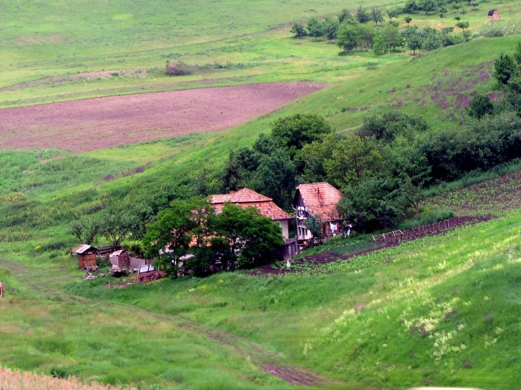Romanian farm house in rural Transylvania