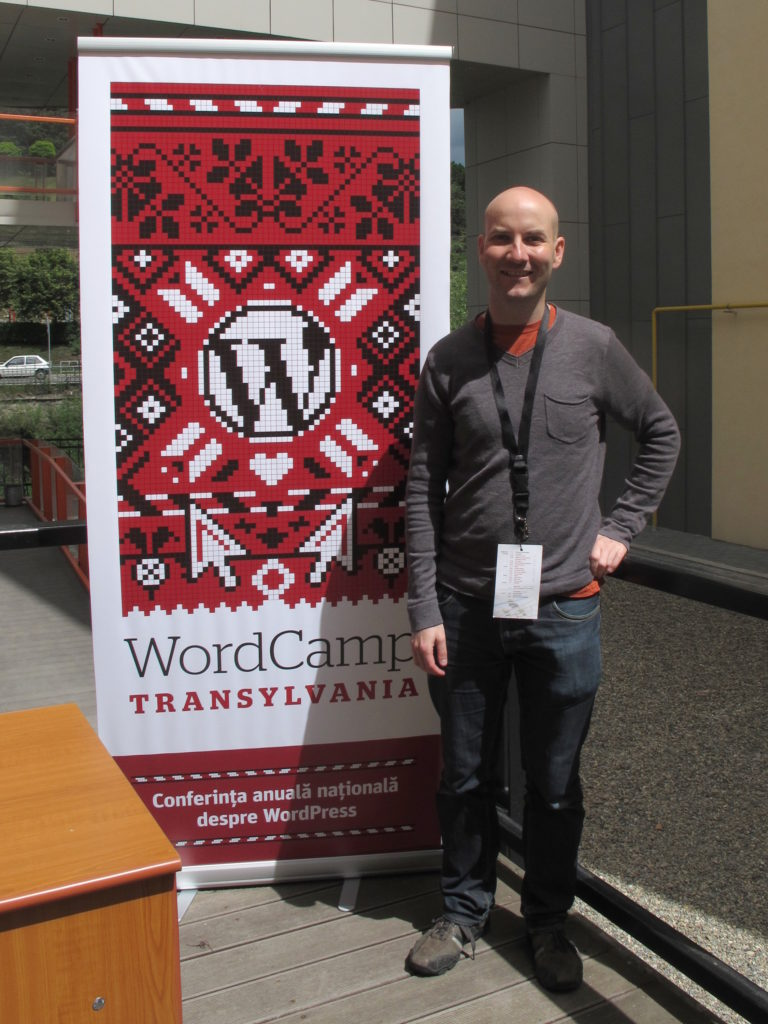 Me at WordCamp Transylvania