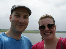 Ryan Hellyer (me) and Steffi beside the Rhine river