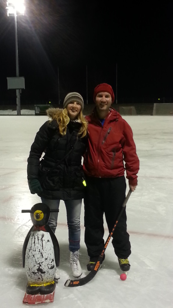 Bandy with Tessa at Frognerstadion