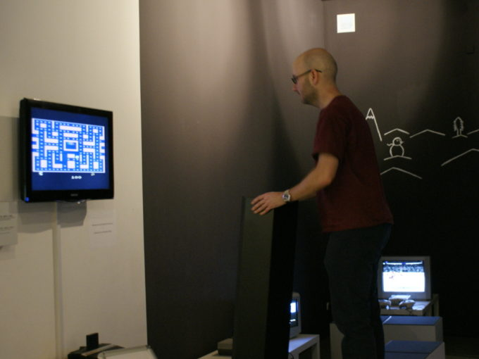 Me trying to play Pacman with a giant Atari 2600 controller.