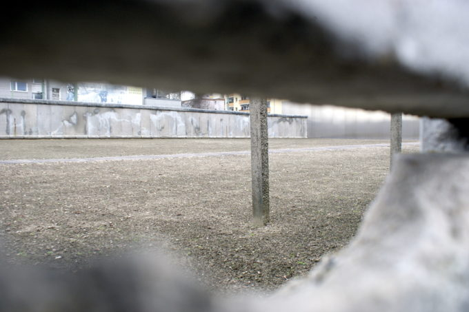 View into the death strip of the Berlin wall