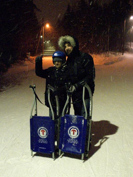 Scott sledding in Norway