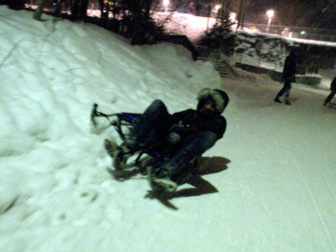 Scott sledding in Norway