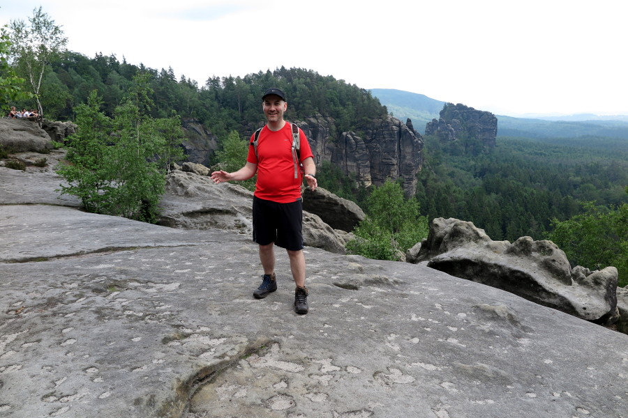 Ryan Hellyer (me), hiking in Sachsen