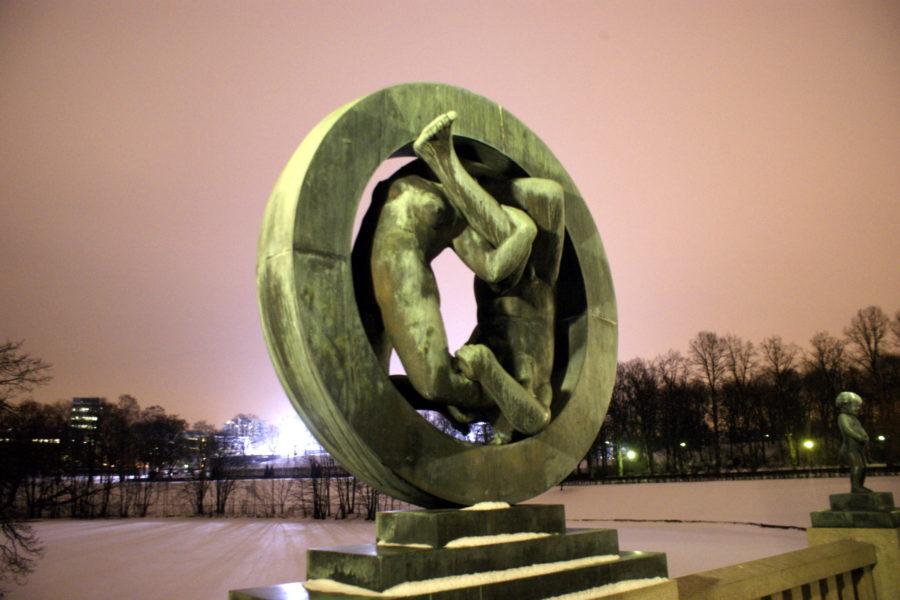 Frogner park statue in Oslo, Norway