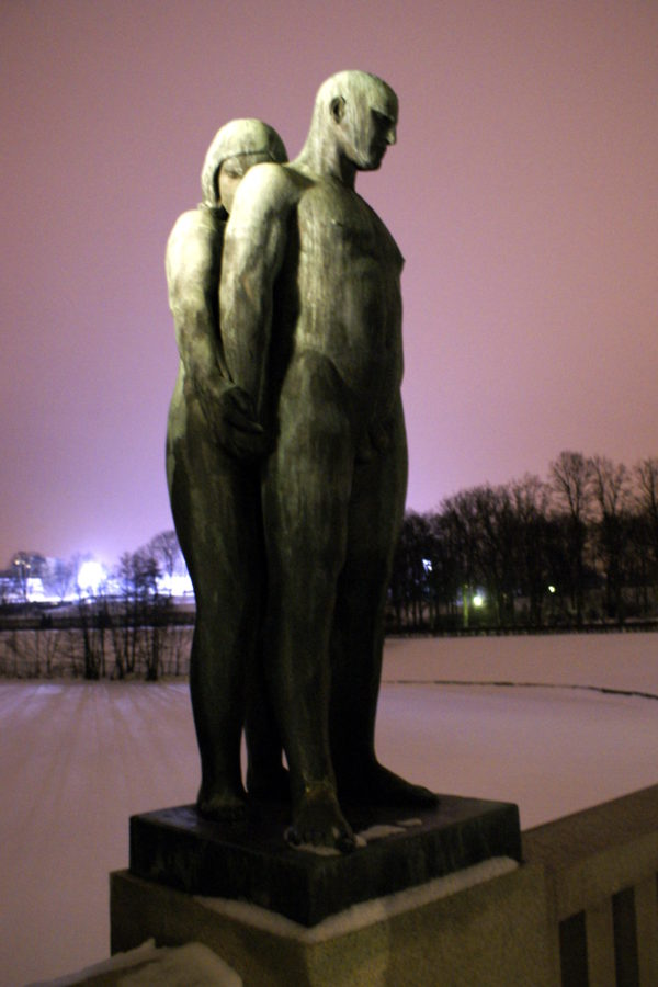 Frogner park statue in Oslo, Norway
